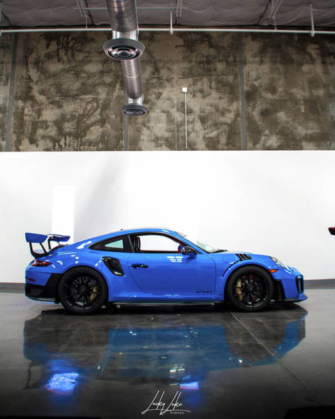 Wall Art - Photograph - Blue Porsche by Lucas Brooks