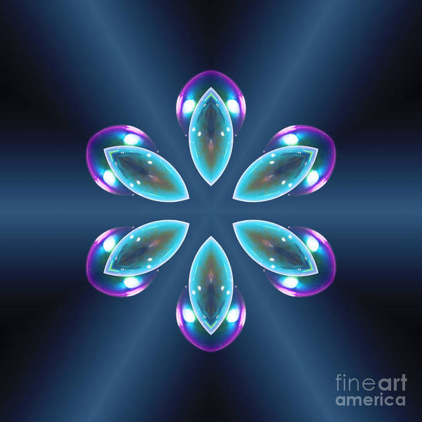 Digital Art - Blue Prism Flower by Rachel Hannah