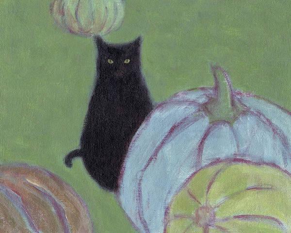 Painting - Blue Pumpkin by Kazumi Whitemoon