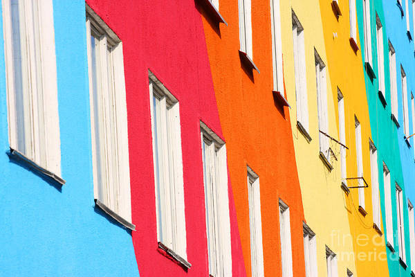 Wall Art - Photograph - Blue, Red, Green, Orange Homes by Kochergin