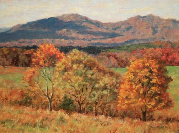 Farmstead Painting - Blue Ridge Autumn by Bonnie Mason