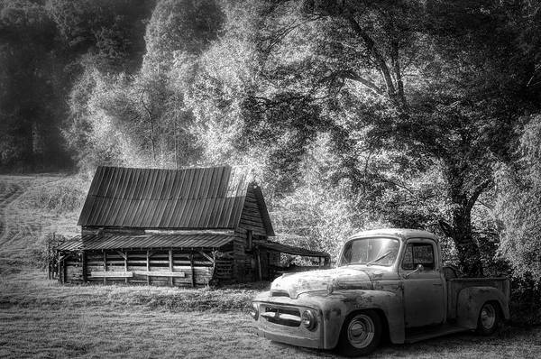 Wall Art - Photograph - Blue Ridge Country Black And White by Debra and Dave Vanderlaan