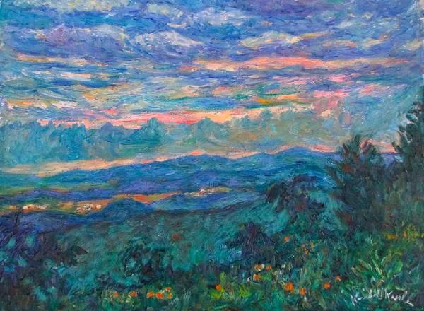 Painting - Blue Ridge Evening Light by Kendall Kessler