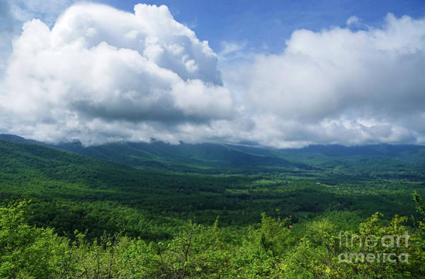 Photograph - Blue Ridge Mountains Fine Day by Rachel Cohen