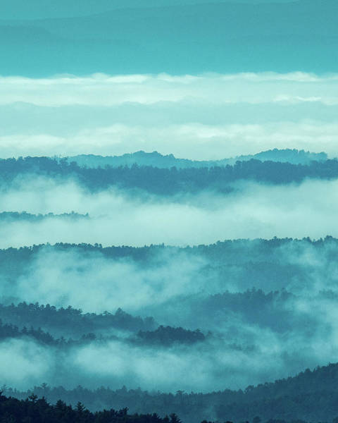 Photograph - Blue Ridge Mountains Layers - Blue Ridge Parkway by Mike Koenig