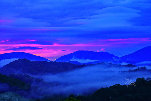 Photograph - Blue Ridge Sunset by Meta Gatschenberger