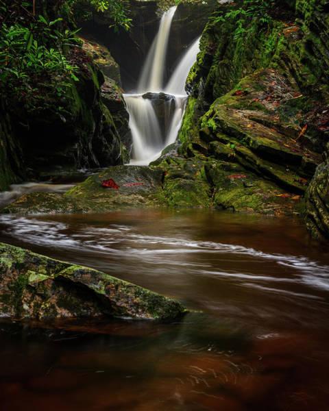 Wall Art - Photograph - Blue Ridge Mountains Waterfalls - Duggers Creek Falls by Mike Koenig