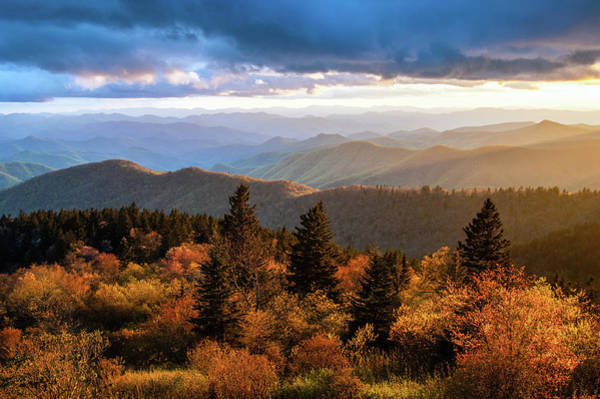 Wall Art - Photograph - Blue Ridge Parkway Asheville Nc Cowee Gold by Robert Stephens