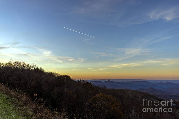 Photograph - Blue Ridge Parkway Falling Star Sunset 766 by Ricardos Creations