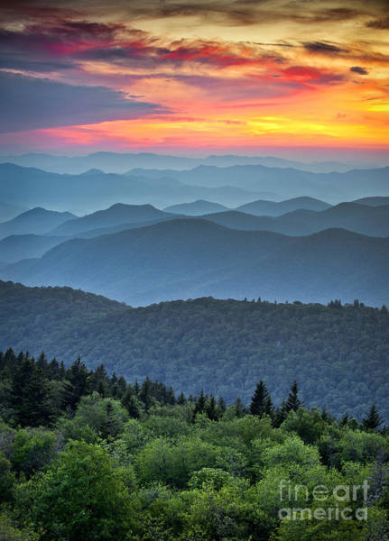 Wall Art - Photograph - Blue Ridge Parkway Scenic Landscape by Dave Allen Photography