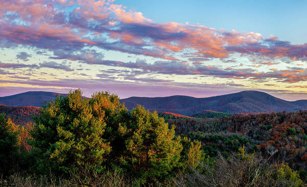 Photograph - Blue Ridge Mountain Sunset  by Mark Papke
