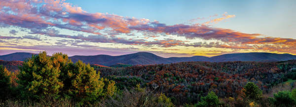 Photograph - Blue Ridge Sunset by Mark Papke