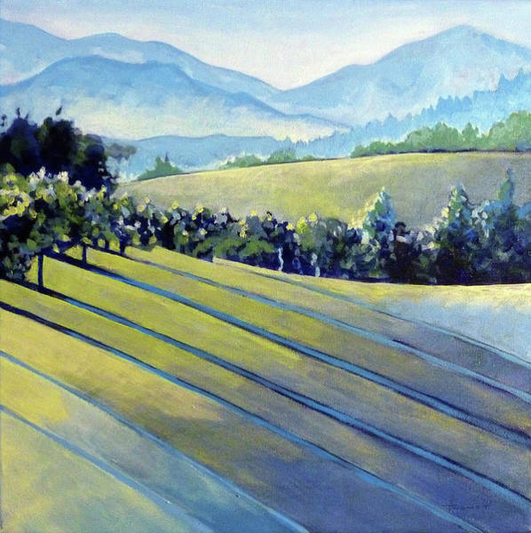 Impressionistic Vineyard Wall Art - Painting - Blue Ridge Vineyards 2 by Catherine Twomey