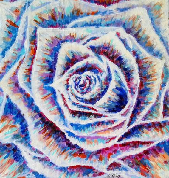 Wall Art - Painting - Blue Rose by Cristina Marin