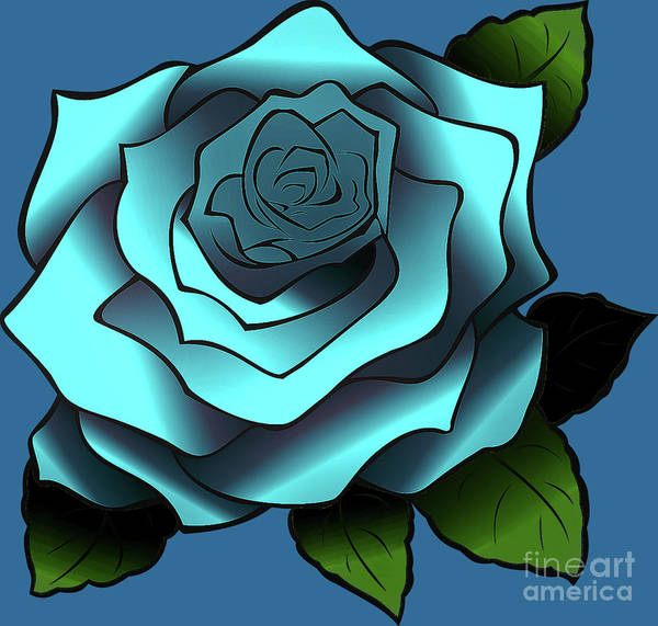 Digital Art - Blue Rose by Mimulux patricia No