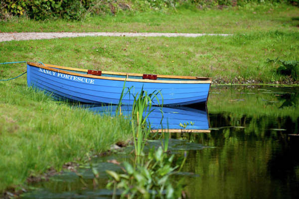 Photograph - Blue Rowing Boat by Helen Northcott
