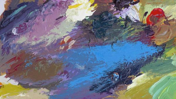 Conceptual Painting - Blue Saga by David Lloyd Glover