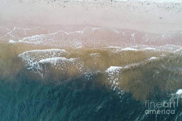 Wall Art - Photograph - Blue Sea And Waves And Sandy Beach. by Michal Bednarek