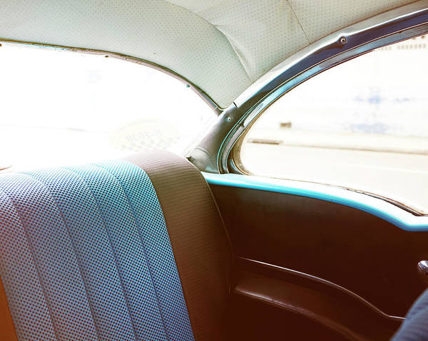 Passenger Car Photograph - Blue Seat by Mark Leary