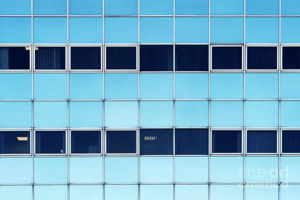 Window Pane Photograph - Blue Shades by Tim Gainey