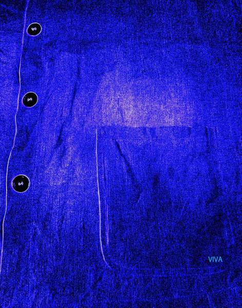 Photograph - Blue Shirt - Unironed by VIVA Anderson