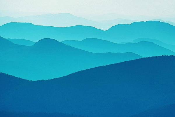 Wall Art - Painting - Blue Silence by Celestial Images