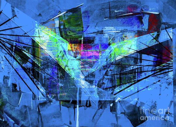 Digital Art - Blue Sketch by Art Di