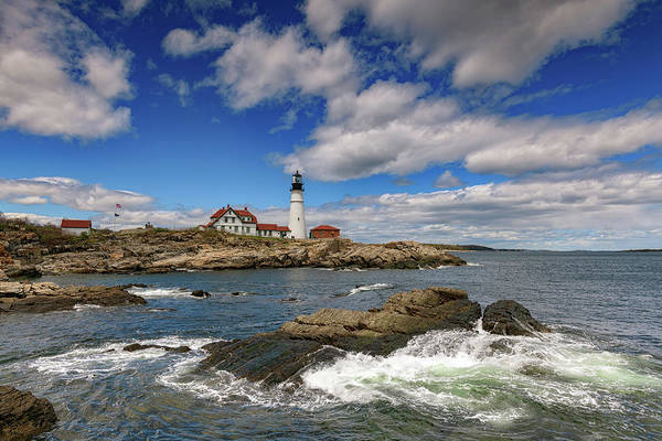 Wall Art - Photograph - Blue Skies At Portland Head by Rick Berk
