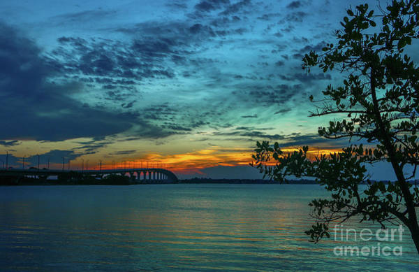Photograph - Blue Sky And Causeway Sunrise by Tom Claud
