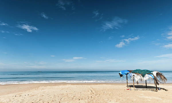 Goa Photograph - Blue Sky Day, Sandy Beach In Goa, India by Oliver Smalley / Ollie Smalley Photography