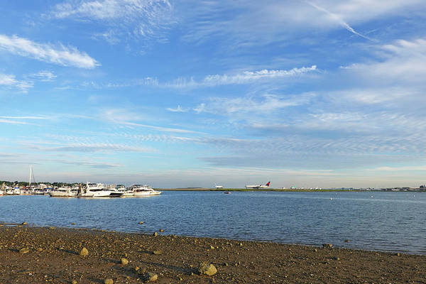 Photograph - Blue Sky Over Constitution Beach Boston Ma by Toby McGuire