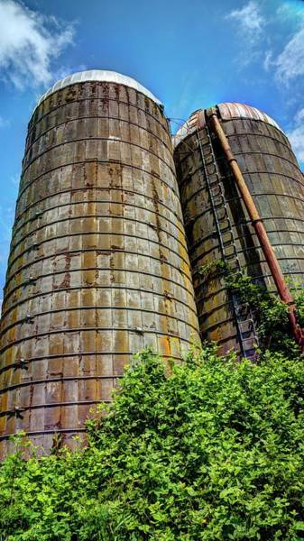 Photograph - Blue Sky Silos by Jerry Sodorff
