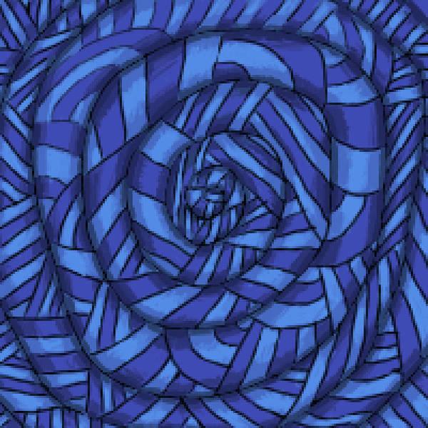 Digital Art - Blue Spiral by Thomas Olsen