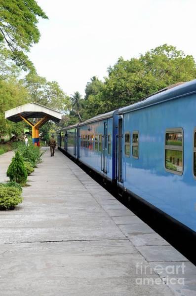Photograph - Blue Sri Lanka Colombo To Jaffna Railway Train Parked At Platform  by Imran Ahmed