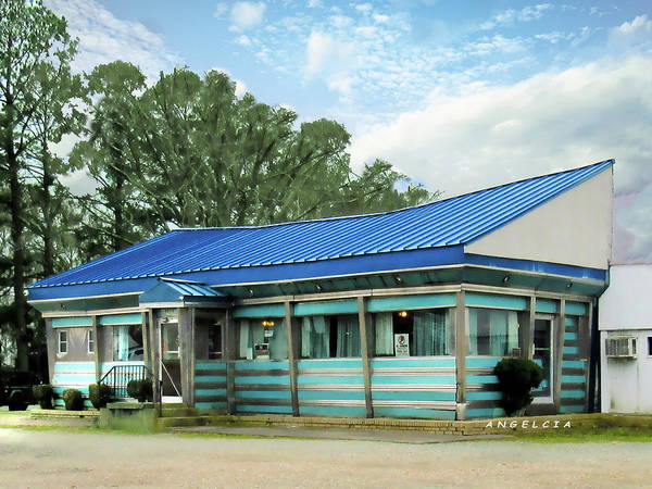 Photograph - Blue Star Diner by Angelcia Wright