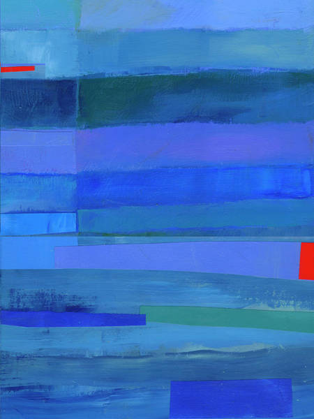 Wall Art - Painting - Blue Stripes #9 by Jane Davies