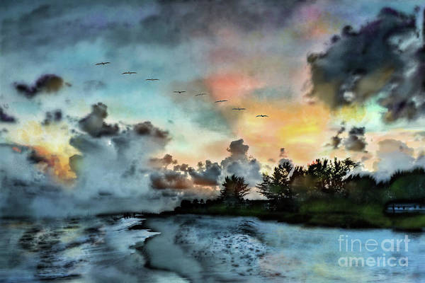 Photograph - Blue Sunset Over Sanibel Island by Jeff Breiman