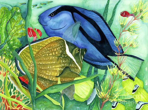 Wall Art - Painting - Blue Tang by Deborah Eve Alastra