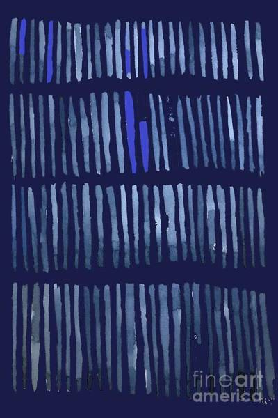 Wall Art - Painting - Blue Tones Abstract by Vesna Antic