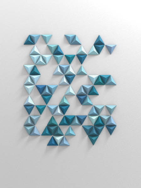 Wall Art - Digital Art - Blue Triangles by Scott Norris