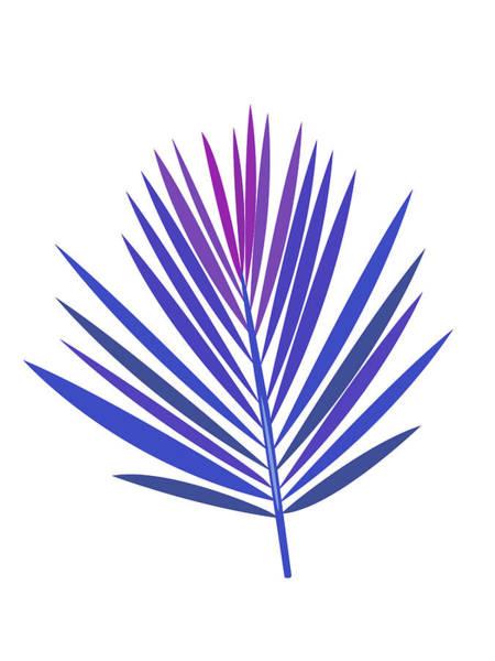 Wall Art - Mixed Media - Blue Tropical Leaf I by Naxart Studio