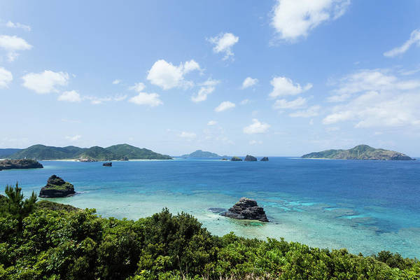 Okinawa Photograph - Blue Tropical Sea And Fringing Coral by Ippei Naoi
