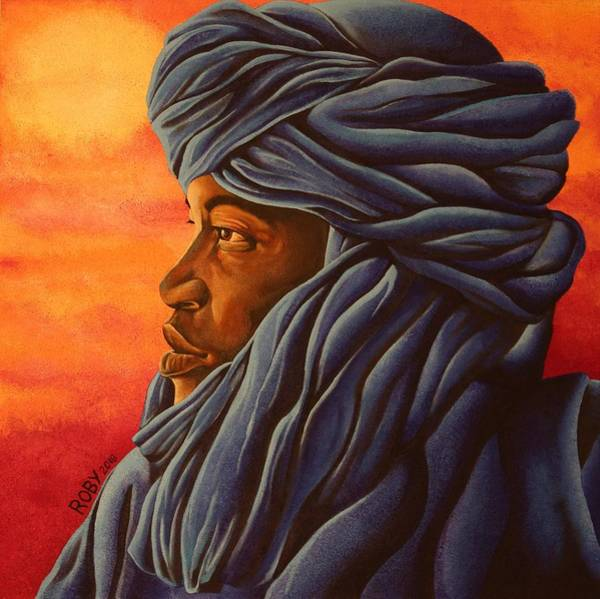 Painting - Blue Tuareg by William Roby