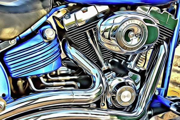 Daytona Bike Week Wall Art - Photograph - Blue Tude by Alice Gipson