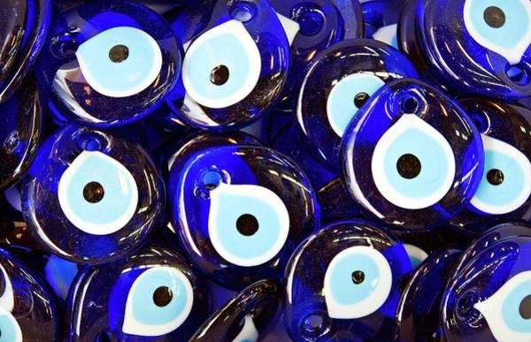 Abundance Photograph - Blue Turkish Evil Eyes by Paul Biris