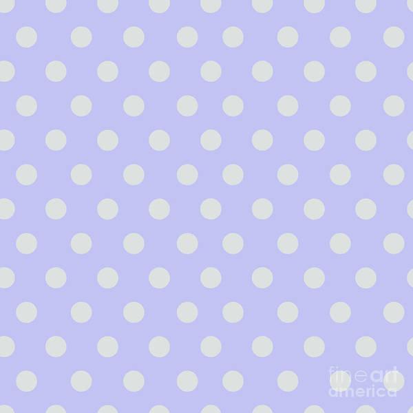 Digital Art - Blue Ultra Soft Lavender Polka Dots Pattern by Sharon Mau