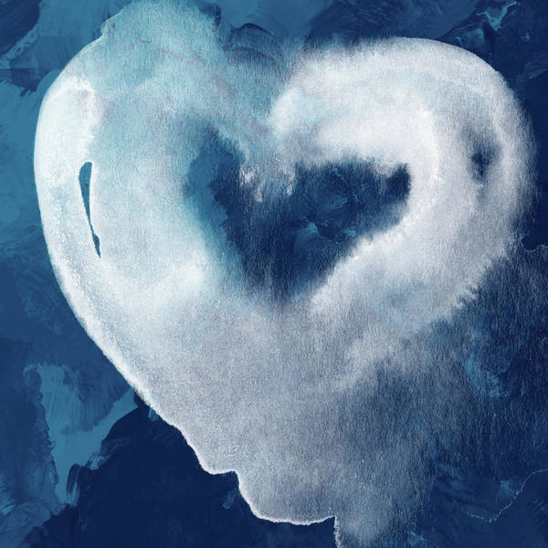 Blue And White Wall Art - Mixed Media - Blue Valentine- Art By Linda Woods by Linda Woods
