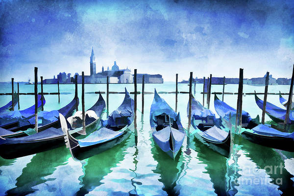 Feast Painting - Blue Venice by Delphimages Photo Creations