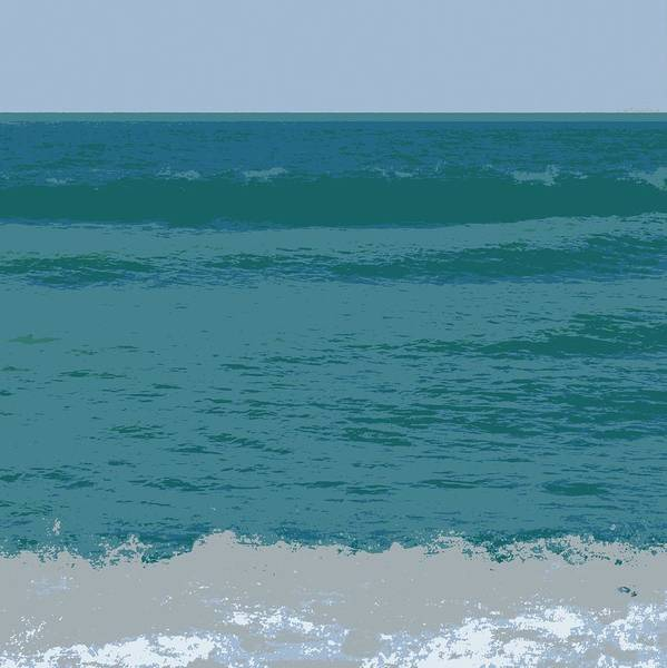 Digital Art - Blue Waters And Waves by Michelle Calkins