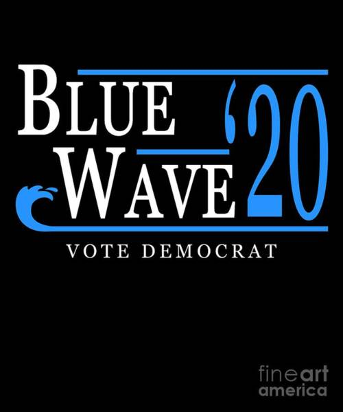 Digital Art - Blue Wave 2020 by Flippin Sweet Gear